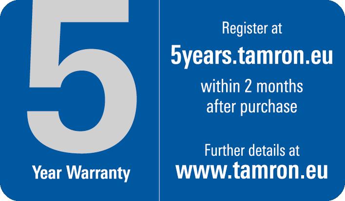 Garantía 5 años – Tamron